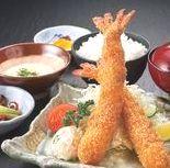 海老フライ定食ランチ