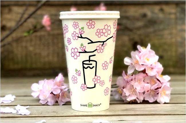 シェイクシャックの「桜シェイク」が春限定で復活!